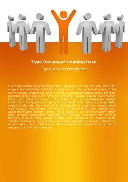 Orange Winner Word Template, Cover Page, 05622, Careers/Industry — PoweredTemplate.com