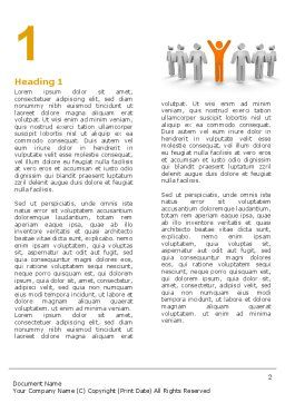 Orange Winner Word Template, First Inner Page, 05622, Careers/Industry — PoweredTemplate.com