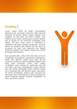 Orange Winner Word Template, Second Inner Page, 05622, Careers/Industry — PoweredTemplate.com
