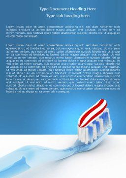 Toothpaste Word Template, Cover Page, 05623, Medical — PoweredTemplate.com