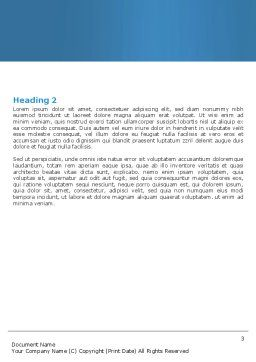 Toothpaste Word Template, Second Inner Page, 05623, Medical — PoweredTemplate.com
