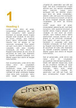 Dream Word Template, First Inner Page, 05626, Business Concepts — PoweredTemplate.com