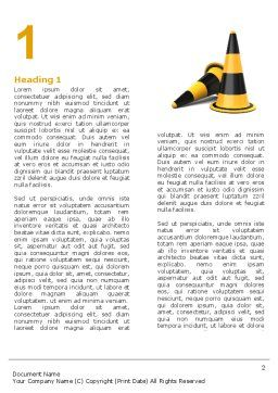 Traffic Cones Word Template, First Inner Page, 05631, Construction — PoweredTemplate.com