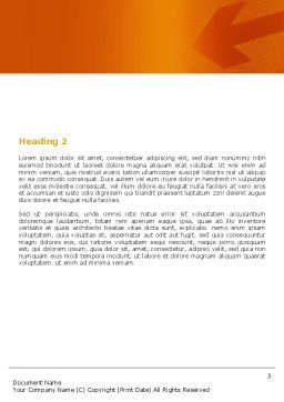 Traffic Cones Word Template, Second Inner Page, 05631, Construction — PoweredTemplate.com