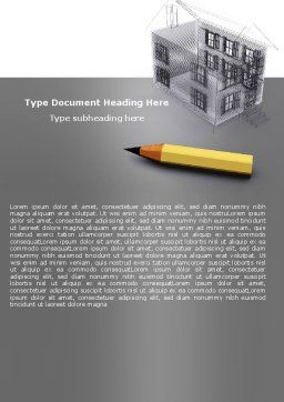 Draft Word Template, Cover Page, 05632, Construction — PoweredTemplate.com