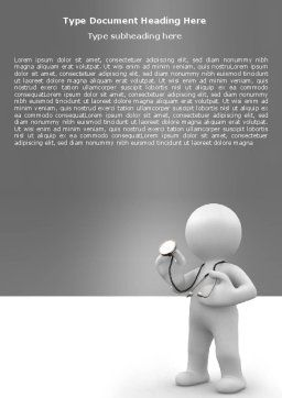 Doctor Of Medicine Word Template, Cover Page, 05634, Medical — PoweredTemplate.com