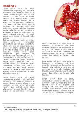 Pomegranate On A Green White Background Word Template, First Inner Page, 05637, Agriculture and Animals — PoweredTemplate.com