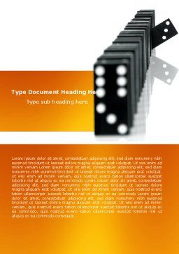 Dominoes Falling Effect Word Template, Cover Page, 05638, Consulting — PoweredTemplate.com