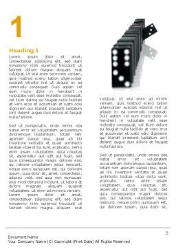 Dominoes Falling Effect Word Template, First Inner Page, 05638, Consulting — PoweredTemplate.com
