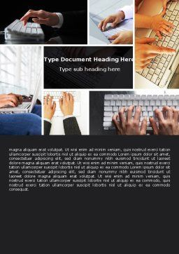 Keyboarding Word Template, Cover Page, 05639, Technology, Science & Computers — PoweredTemplate.com