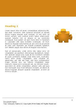 Yellow Jigsaw Word Template, Second Inner Page, 05640, Consulting — PoweredTemplate.com