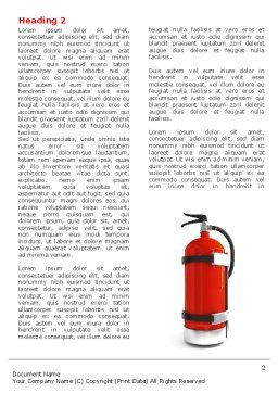 Fire Extinguisher Word Template First Inner Page