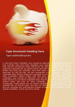 Piggy Bank Word Template, Cover Page, 05644, Financial/Accounting — PoweredTemplate.com