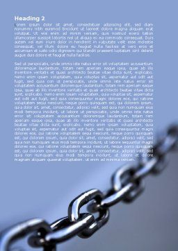 Steel Chain Word Template, Second Inner Page, 05646, Business Concepts — PoweredTemplate.com