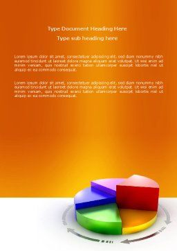 3D Pie Diagram Word Template, Cover Page, 05649, Consulting — PoweredTemplate.com