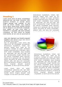 3D Pie Diagram Word Template, First Inner Page, 05649, Consulting — PoweredTemplate.com