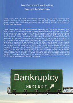 Bankrupt Word Template Cover Page