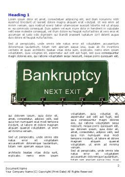 Bankrupt Word Template First Inner Page