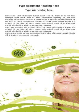 Hair Care Word Template, Cover Page, 05653, Medical — PoweredTemplate.com