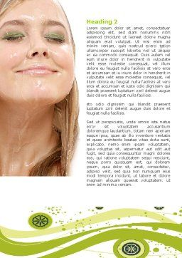 Hair Care Word Template, Second Inner Page, 05653, Medical — PoweredTemplate.com