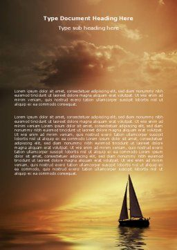 Yacht Word Template, Cover Page, 05655, Nature & Environment — PoweredTemplate.com