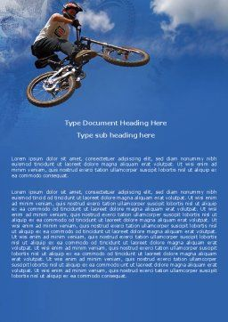 Freeride Word Template, Cover Page, 05663, Sports — PoweredTemplate.com