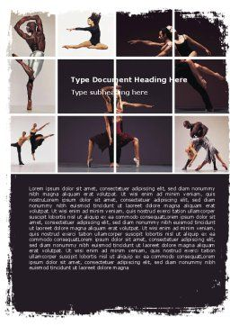Contemporary Dance Word Template Cover Page