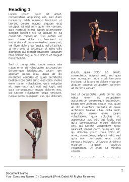 Contemporary Dance Word Template First Inner Page