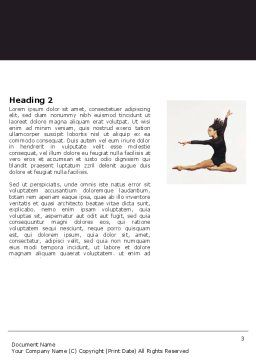 Contemporary Dance Word Template Second Inner Page