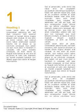American States Word Template First Inner Page
