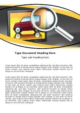 Auto Search Word Template, Cover Page, 05673, Careers/Industry — PoweredTemplate.com