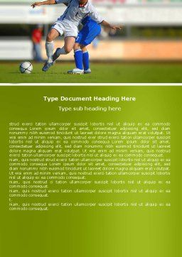 Football Match Word Template, Cover Page, 05681, Sports — PoweredTemplate.com