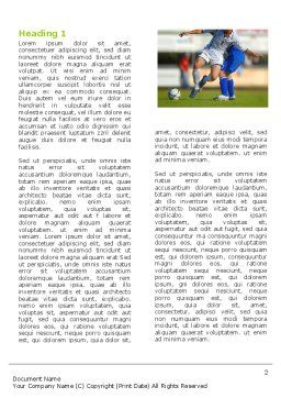 Football Match Word Template, First Inner Page, 05681, Sports — PoweredTemplate.com