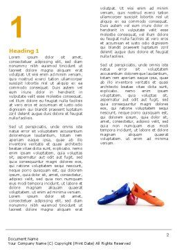 Slippers Word Template, First Inner Page, 05682, Careers/Industry — PoweredTemplate.com