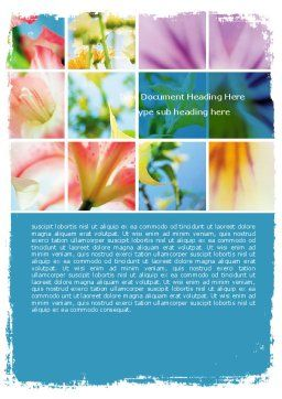 Free Blooming Lilies Word Template, Cover Page, 05685, Holiday/Special Occasion — PoweredTemplate.com