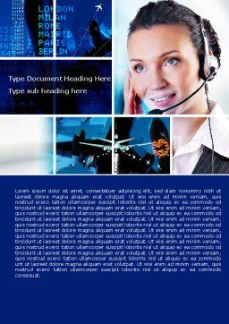 Airline Schedule Word Template, Cover Page, 05690, Cars/Transportation — PoweredTemplate.com