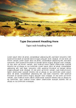 Yellow Valley Word Template, Cover Page, 05696, Nature & Environment — PoweredTemplate.com