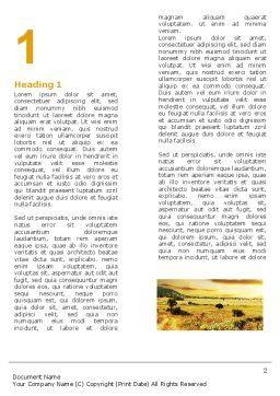 Yellow Valley Word Template, First Inner Page, 05696, Nature & Environment — PoweredTemplate.com