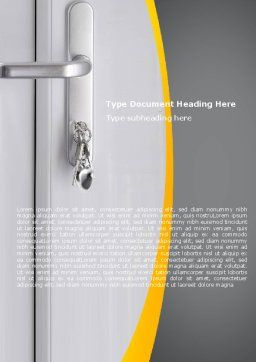 Door Keys Word Template Cover Page