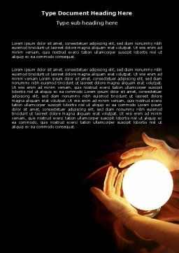 Glowing Sphere Word Template Cover Page