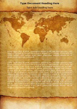 Old World Word Template, Cover Page, 05704, Global — PoweredTemplate.com