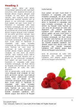 Raspberry With Green Leaf Word Template, First Inner Page, 05705, Food & Beverage — PoweredTemplate.com