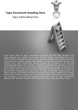 Lightbulb Word Template, Cover Page, 05706, Business Concepts — PoweredTemplate.com