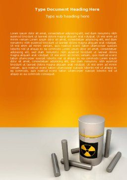Nuclear Fuel Word Template, Cover Page, 05708, Military — PoweredTemplate.com