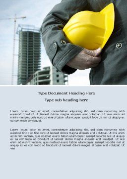 Builder Word Template, Cover Page, 05710, Construction — PoweredTemplate.com