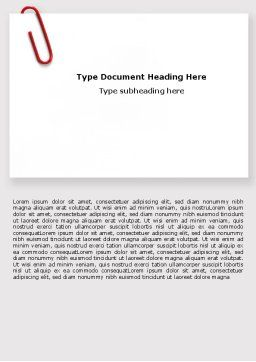 Paperclip Word Template, Cover Page, 05715, Business — PoweredTemplate.com