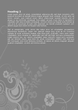 Beauty Salon Word Template Second Inner Page