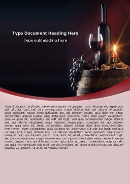 Wine Bottle Word Template, Cover Page, 05719, Food & Beverage — PoweredTemplate.com