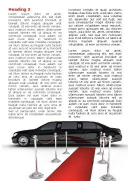 Limousine Word Template First Inner Page