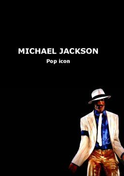 King of Pop Word Template, Cover Page, 05724, People — PoweredTemplate.com